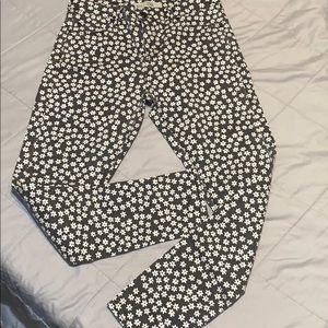 Topshop floral jeans